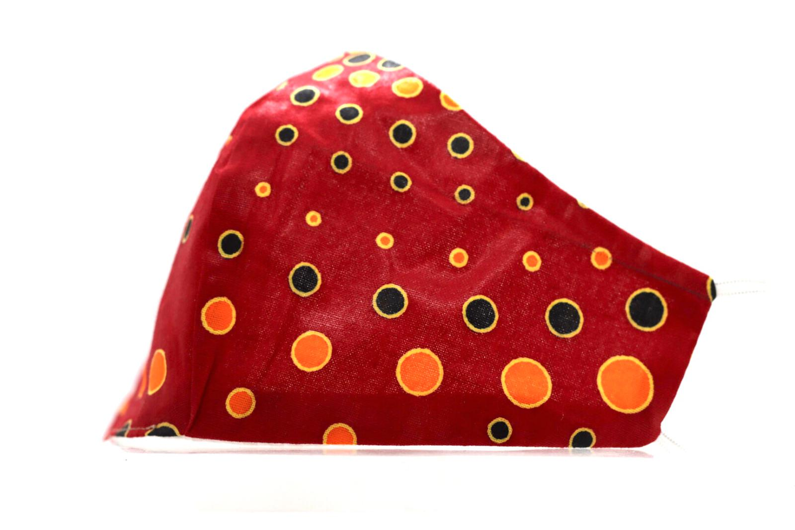 Printed Pepper Red, Yellow circular Mask Kind Shop 2
