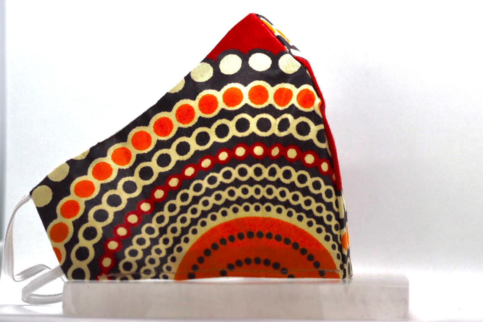 Printed Spiral and circular Mask Kind Shop 3