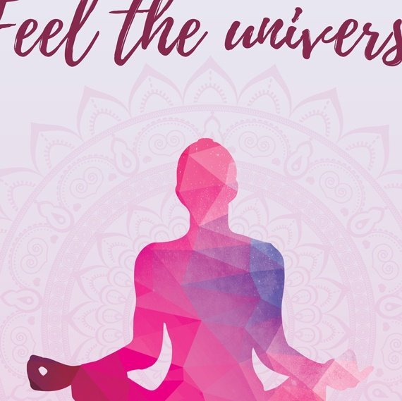 Yoga Meditation Positive Artwork Poster Print With Inspirational Positive Quote – Feel The Universe Inside Of You Kind Shop 2