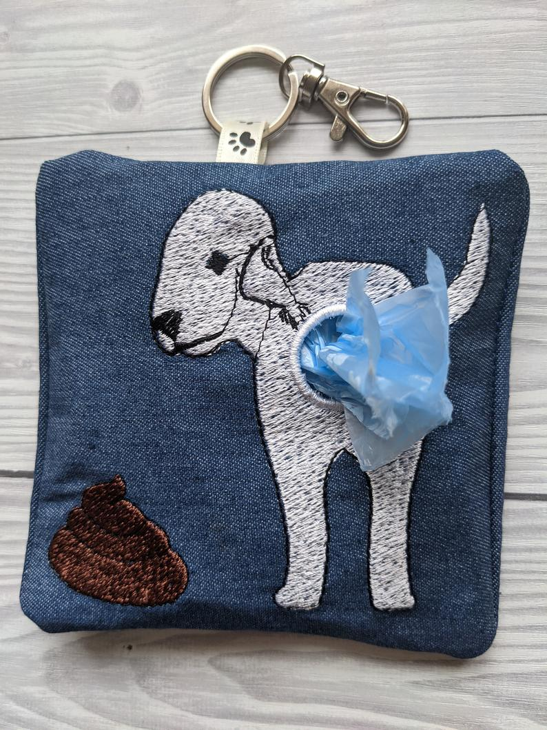 Bedlington Terrier Eco Plastic Free Dog Poo Bag Holder Kind Shop 3