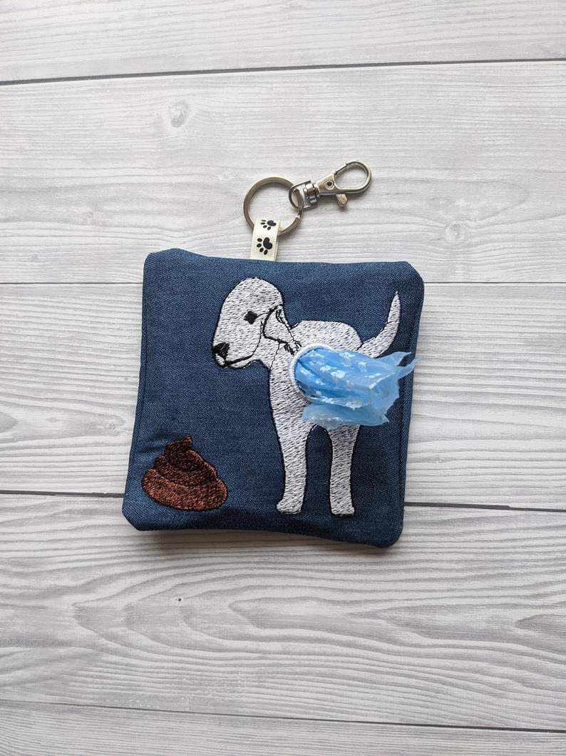 Bedlington Terrier Eco Plastic Free Dog Poo Bag Holder Kind Shop