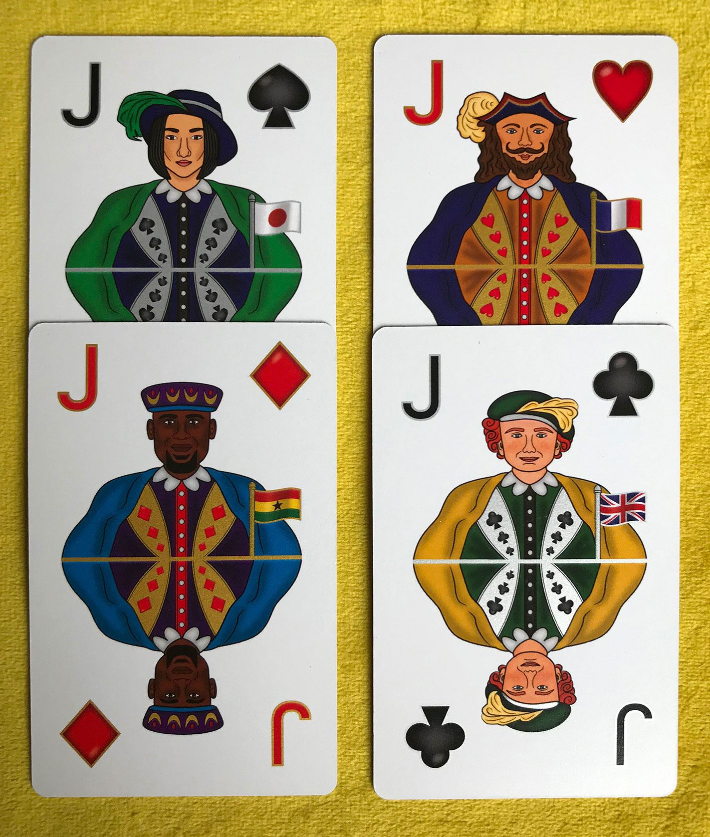 Be Illustrated on a Playing Card – Multicultural Skin Colour Card Deck, Celebrating Diversity Kind Shop 6