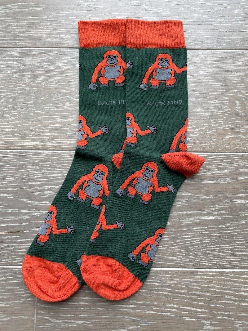 Save the orangutan socks
