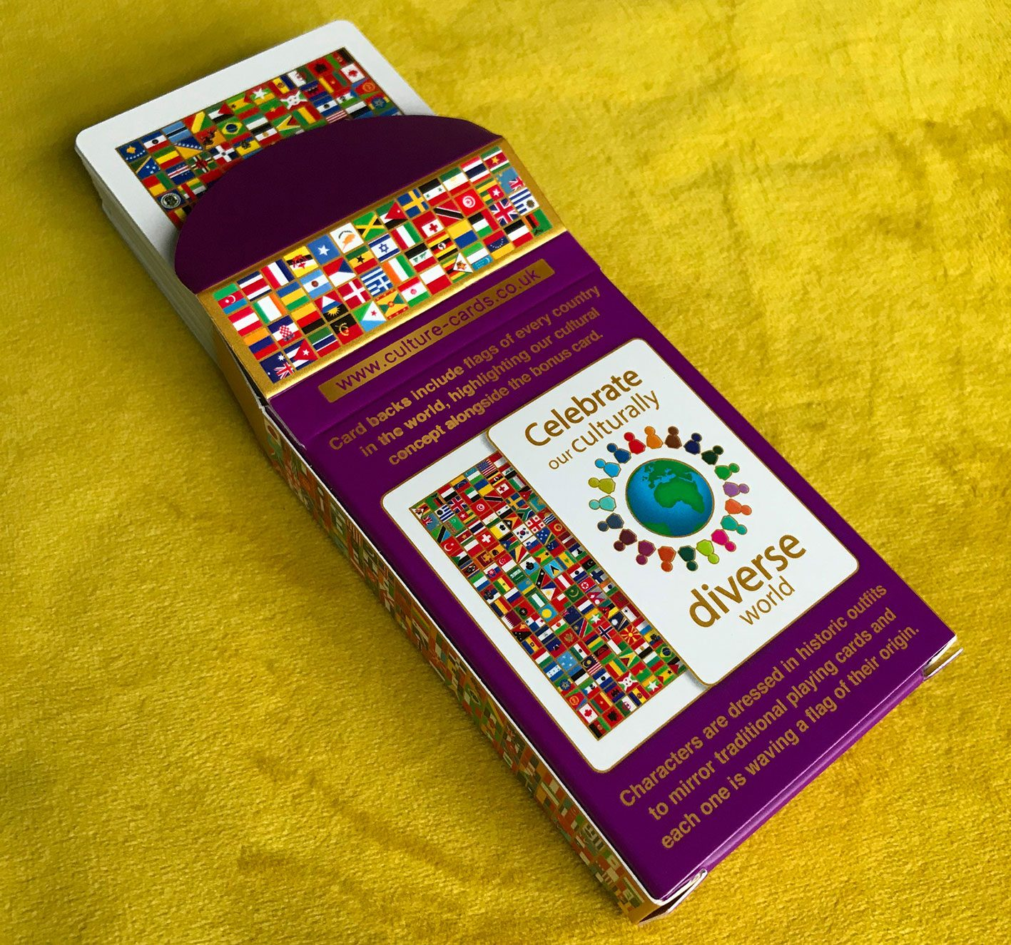 Culture Playing Cards Tuck Box – Multicultural Skin Colour Card Deck, Celebrating Diversity Kind Shop 3