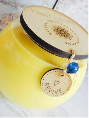 Vegan Soy Candle with Rosemary, Orange, Peppermint and Eucalyptus Essential Oils. Double Wick Bowl Kind Shop 2
