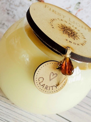 Vegan Soy Candle with Patchouli and Bergamot Essential Oils. Double Wick Bowl Kind Shop 3