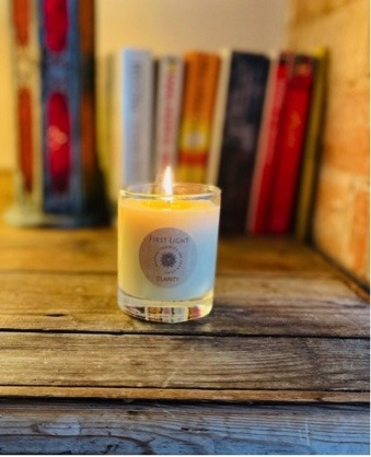Vegan Soy Wax Candle with Patchouli and Bergamot Essential Oils Kind Shop 2