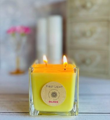 Vegan Soy Candle with Geranium & Sweet Orange Essential Oils. Double Wick Kind Shop 4