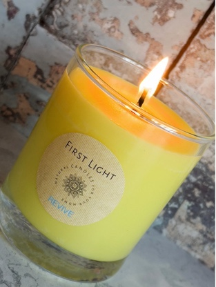 Vegan Soy Candle with Rosemary, Orange, Peppermint and Eucalyptus Essential Oils Kind Shop 2