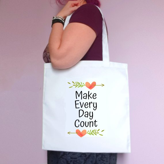 Eco-Friendly Reusable Fabric Tote Bag | Make Every Day Count Kind Shop