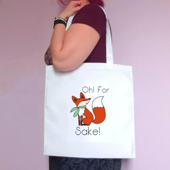 Eco-Friendly Reusable Fabric Tote Bag   Oh For Fox Sake Kind Shop