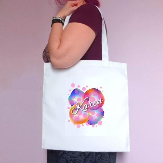 Personalised Eco-Friendly Reusable Fabric Tote Bag | Choose Name Or Initial Kind Shop
