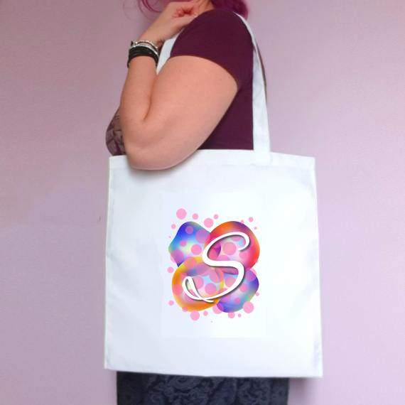 Personalised Eco-Friendly Reusable Fabric Tote Bag | Choose Name Or Initial Kind Shop 3