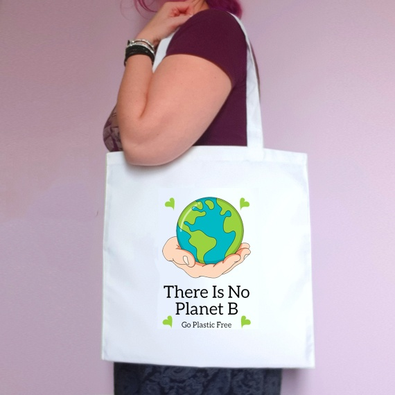 Eco-Friendly Reusable Fabric Tote Bag | There Is No Planet B Kind Shop
