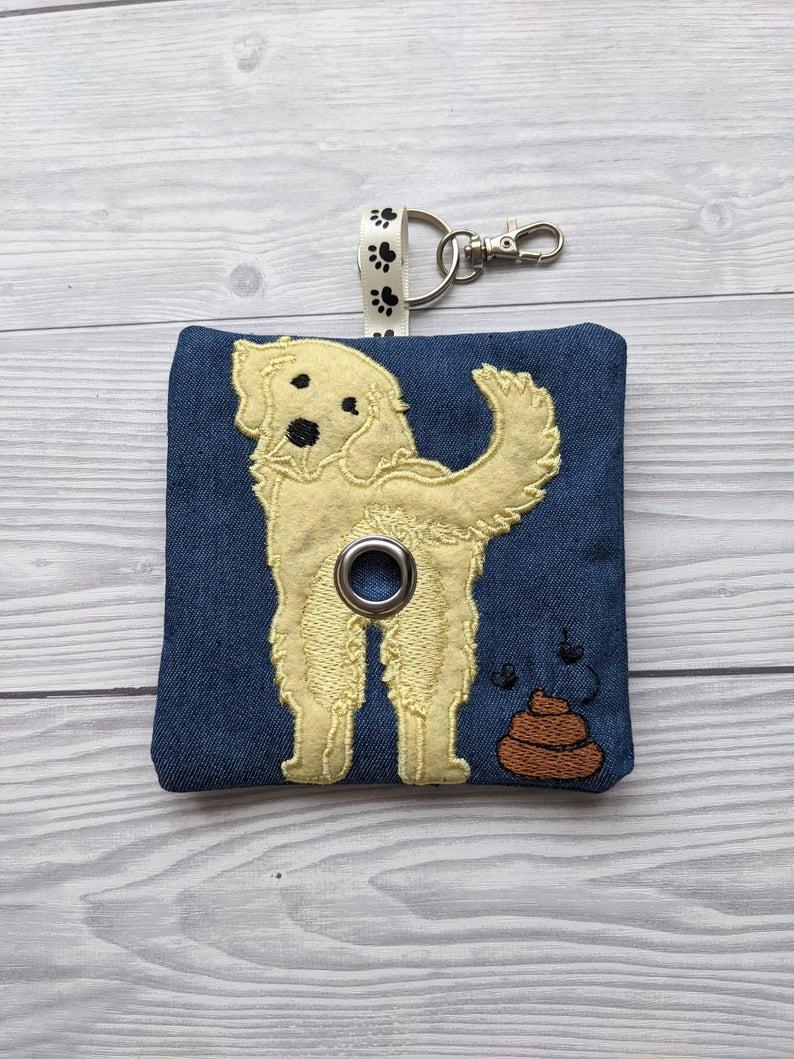 Golden Retriever Eco Plastic Free Dog Poo Bag Holder – Pale Yellow Kind Shop