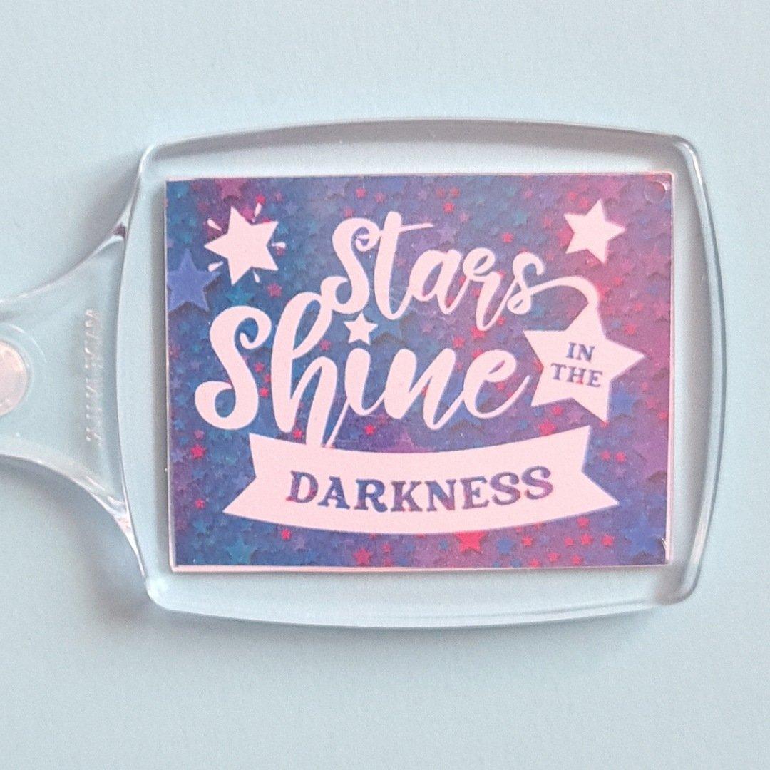 Keyring: Stars shine in the darkness. Fundraising keyring. Kind Shop