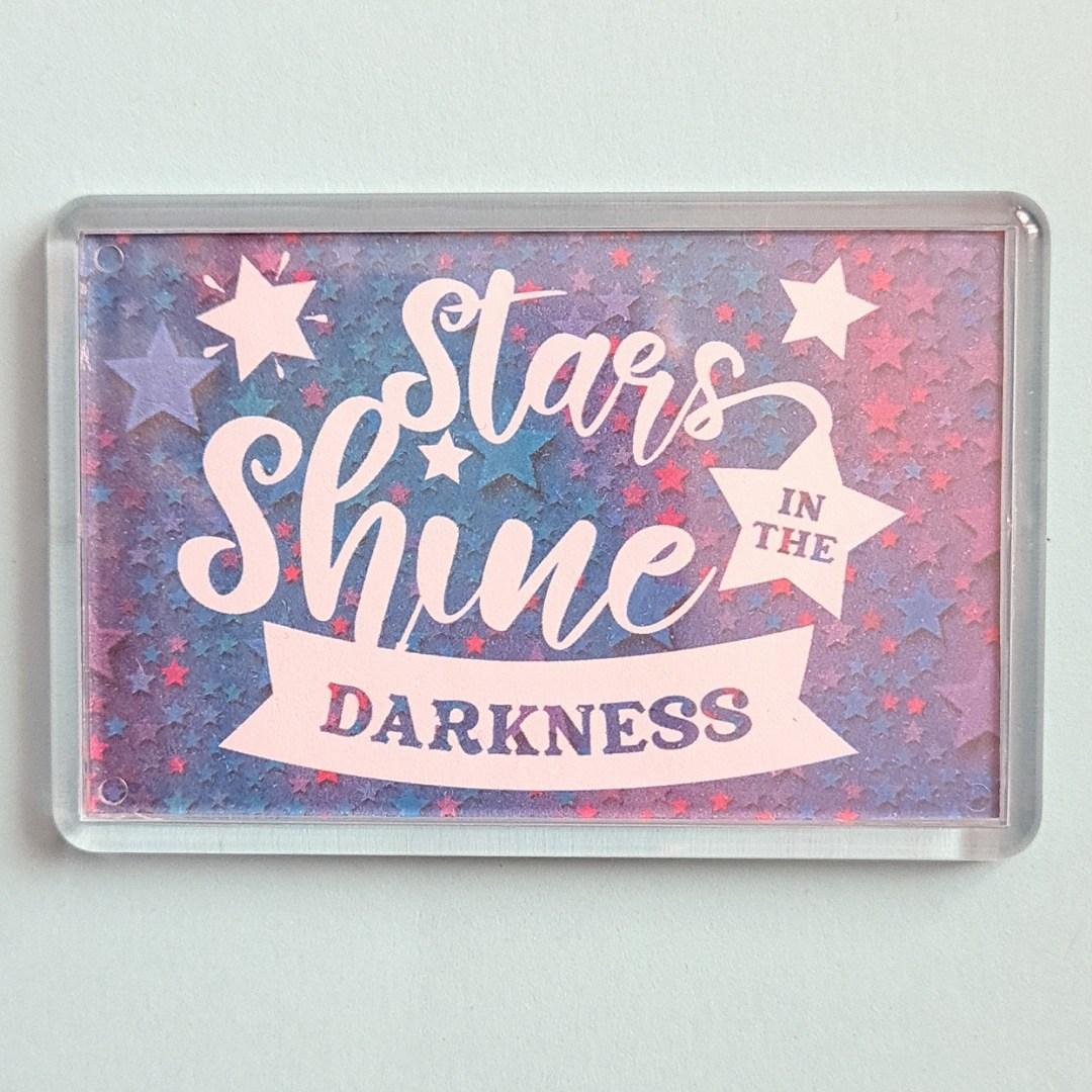Magnet: Stars shine in the darkness. Kindness Magnet Kind Shop
