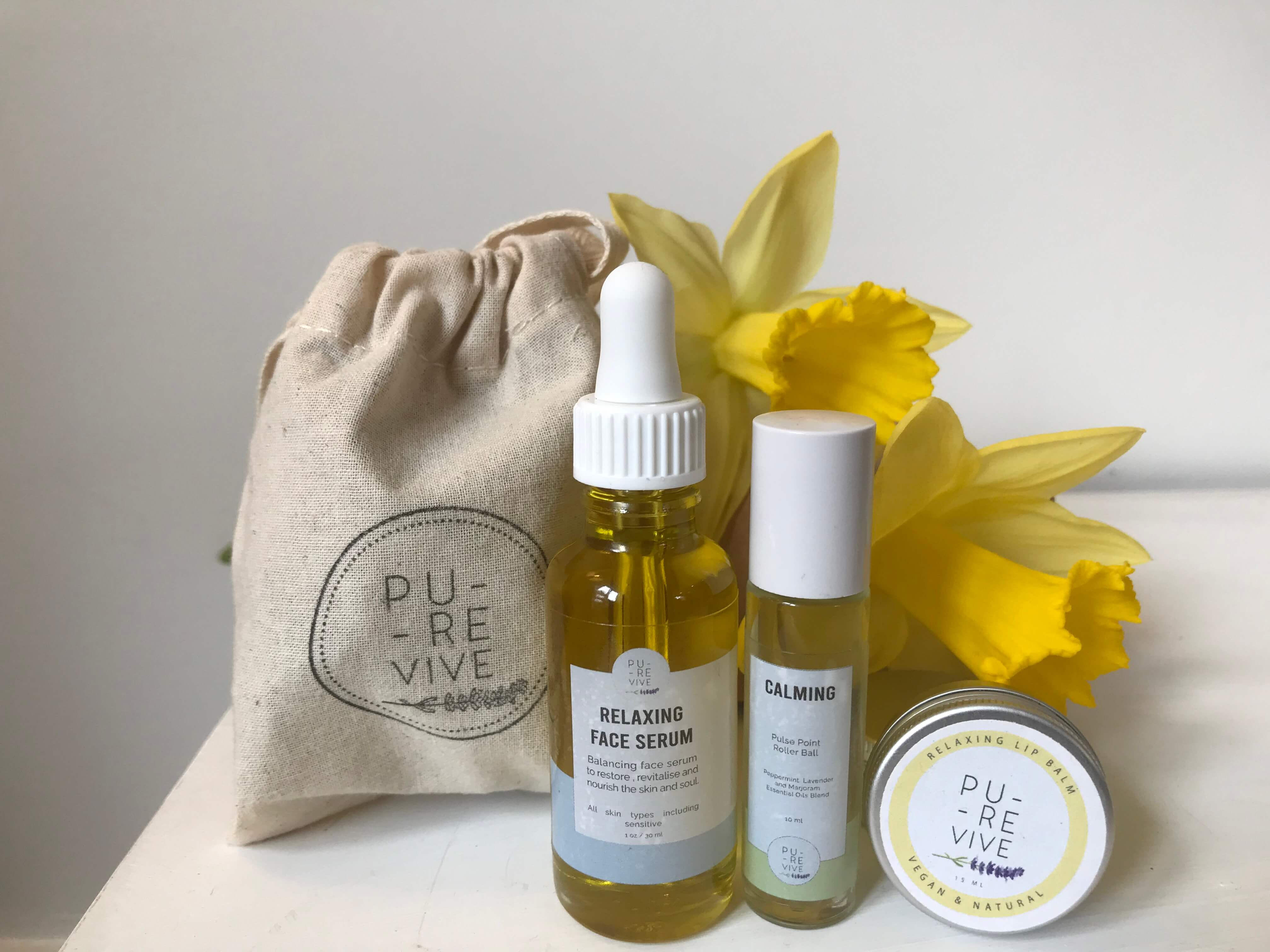 Relax Sleep Pack - Relaxing Face Serum, Pulse Point Oil and Vegan Lip Balm