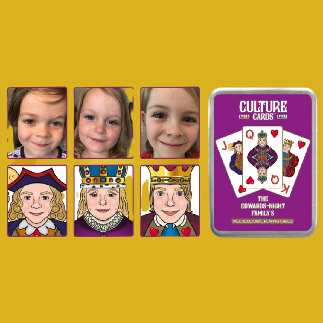 Personalise Childrens Gifts - Face on Playing Cards