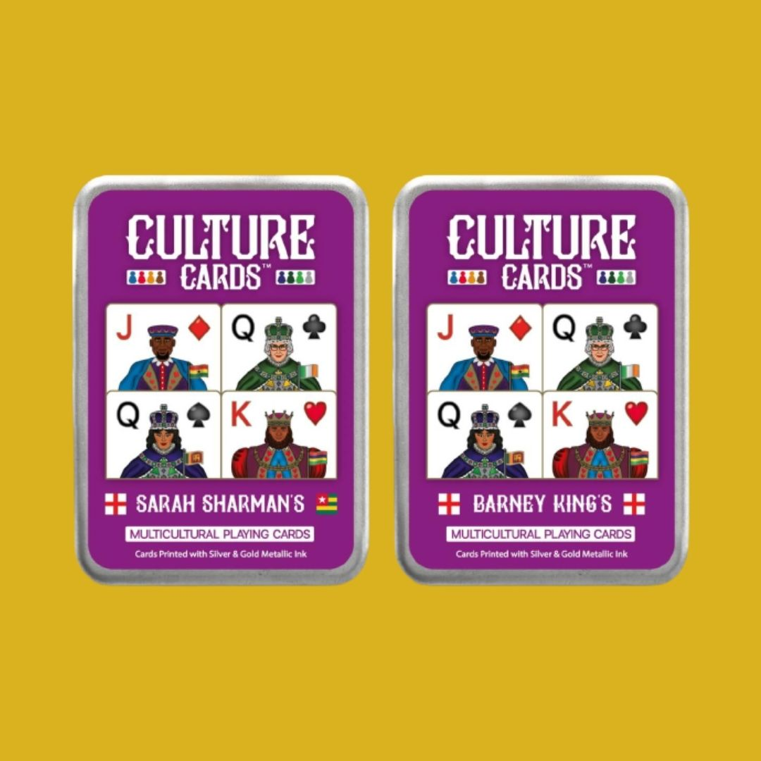 Personalised Culture Playing Cards Gift Tin - Multicultural Skin Colour Card Deck, Celebrating Diversity