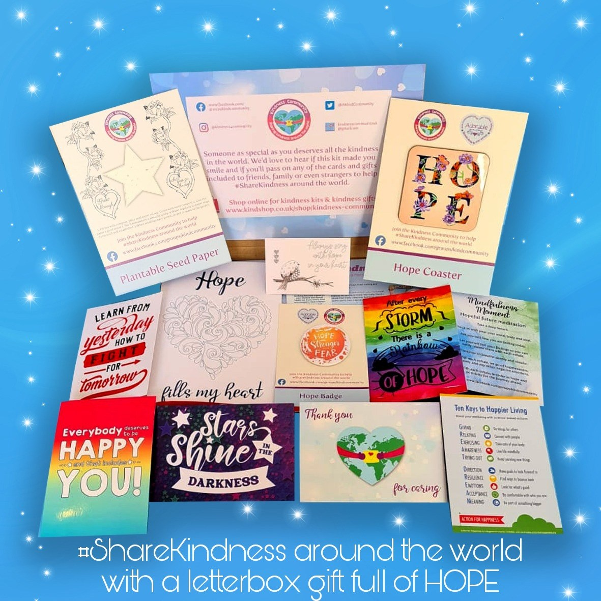Hope themed Kindness Kit. Self Care Package Gift, Letterbox Friendly