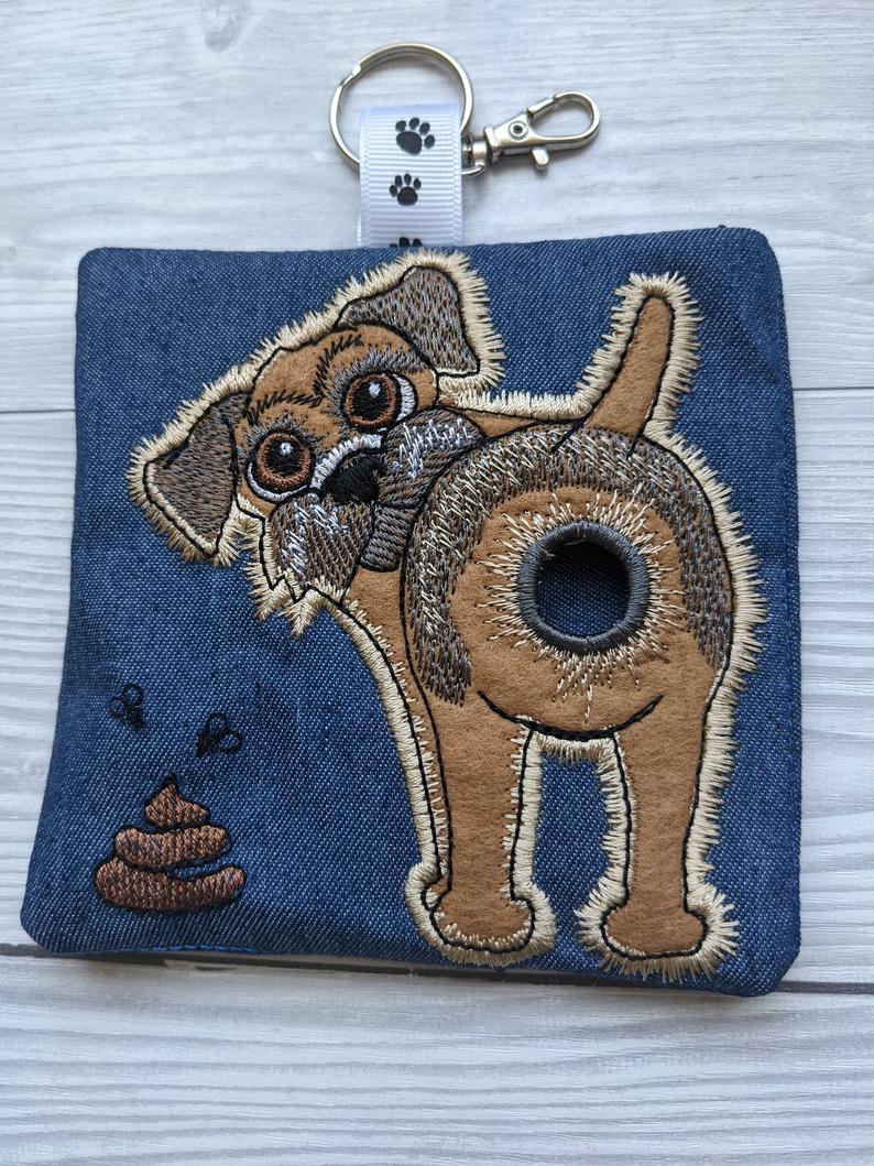 Border Terrier Eco Plastic Free Dog Poo Bag Holder – Dark Brown Kind Shop 3