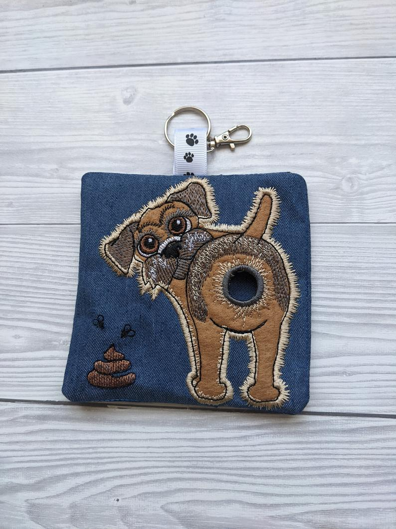 Border Terrier Eco Plastic Free Dog Poo Bag Holder – Dark Brown Kind Shop