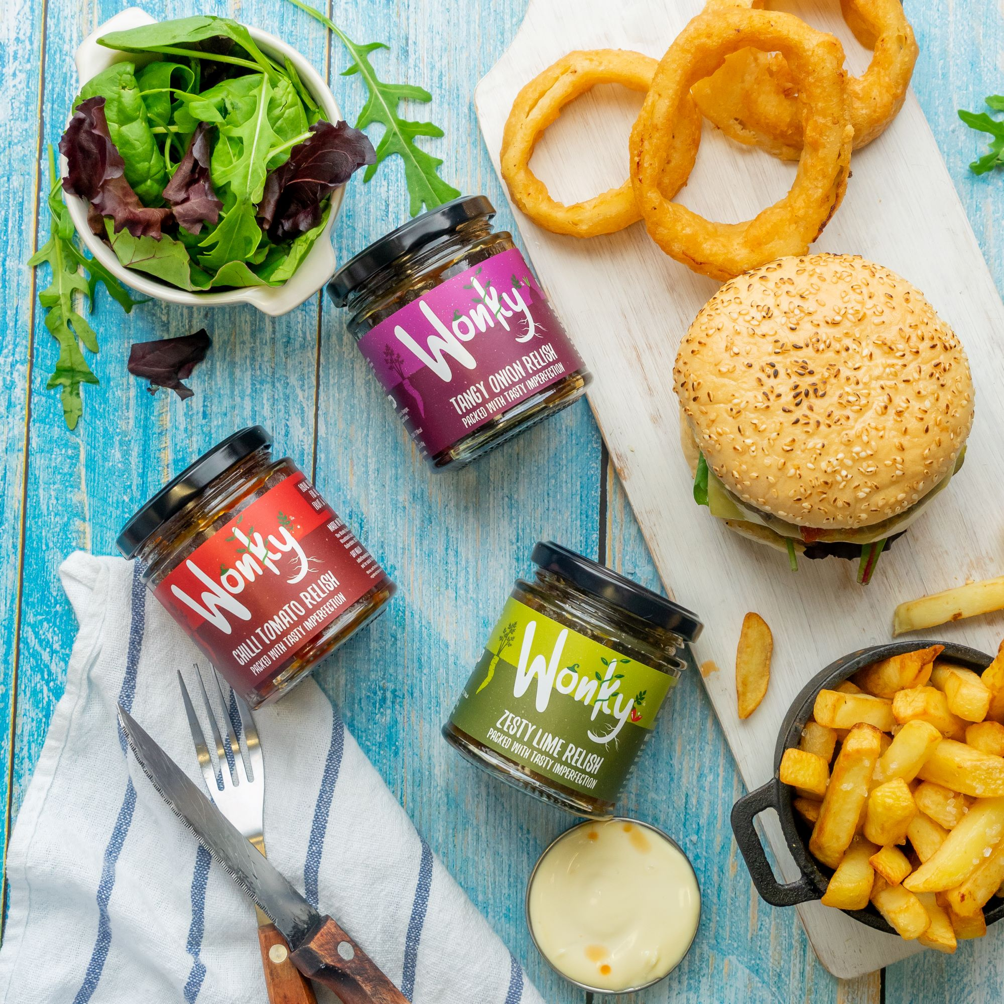 The Wonky Food Co 'Pick & Mix' Gift Box – Chilli Tomato, Zesty Lime or Tangy Onion Relish Kind Shop 6
