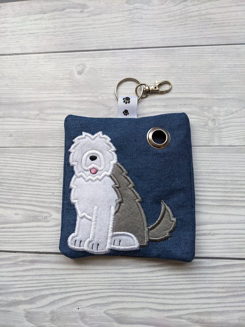 Old English Sheepdog Plastic Free Eco Poo Bag Holder Kind Shop