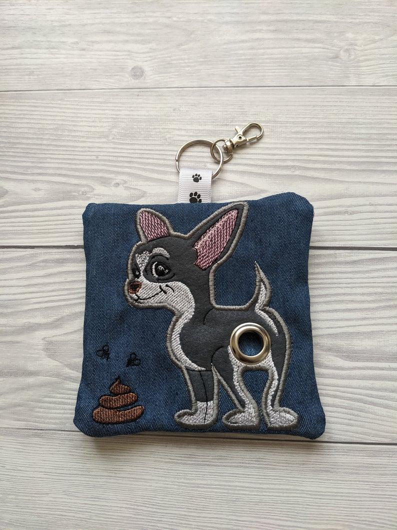 Chihuahua Plastic Free Eco Poo Bag Holder – Grey & White Kind Shop