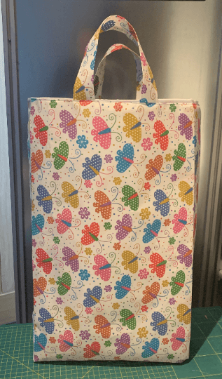 Extra Large Tall Reusable Kids Fabric Gift Bag with Handles (Butterfly Print) Kind Shop