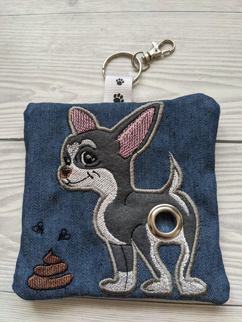 Chihuahua Plastic Free Eco Poo Bag Holder – Grey & White Kind Shop 2
