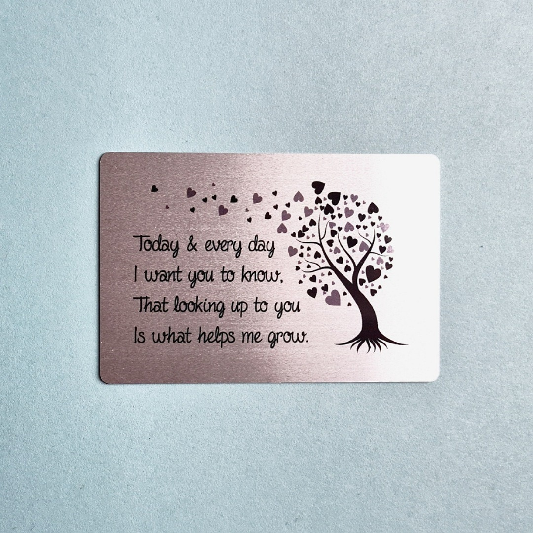 Metal wallet card with poem. Gift keepsake ideal for dads, father's day or teacher gift.. Kind Shop