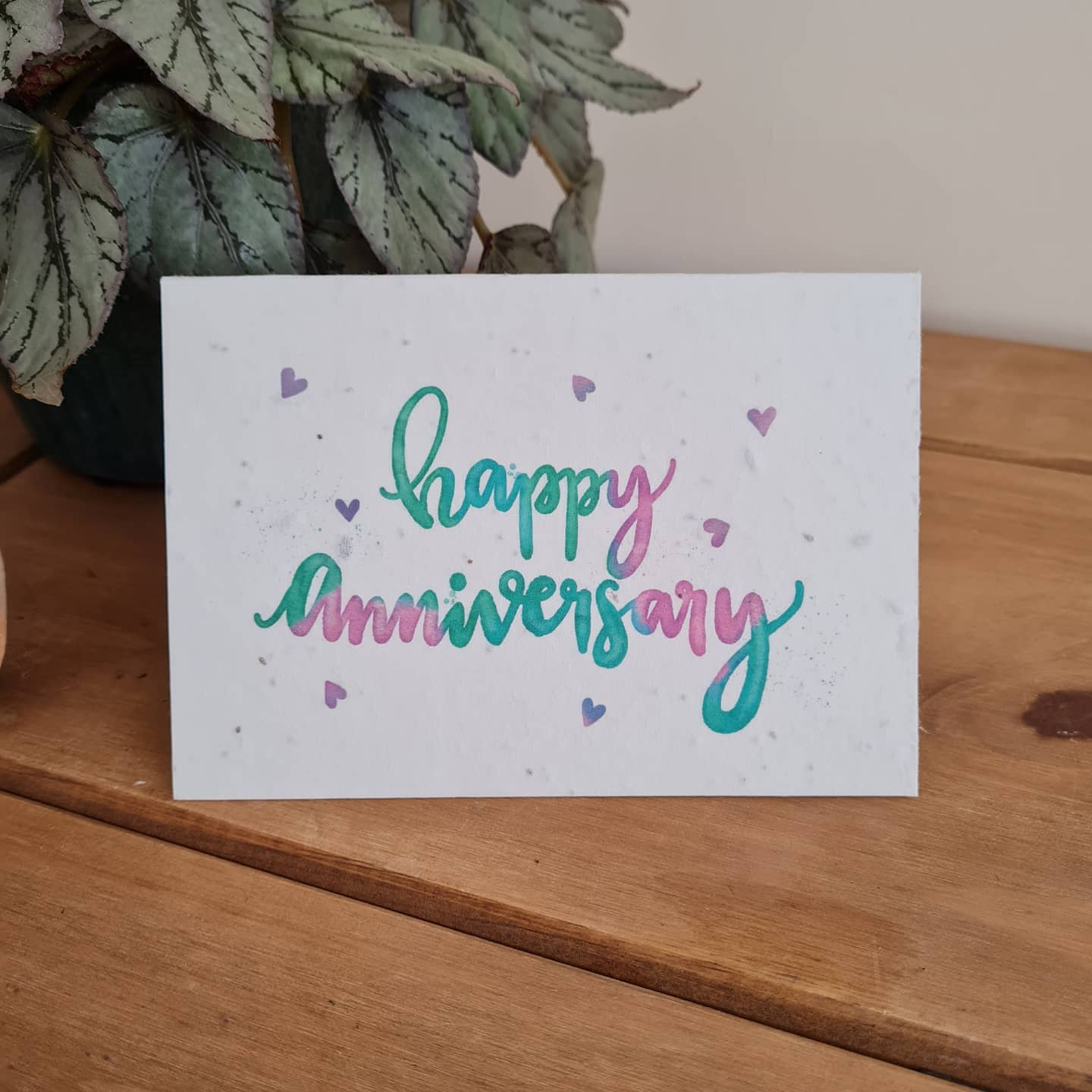 Plantable Wildflower Anniversary Seed Card - Bee and Eco Friendly