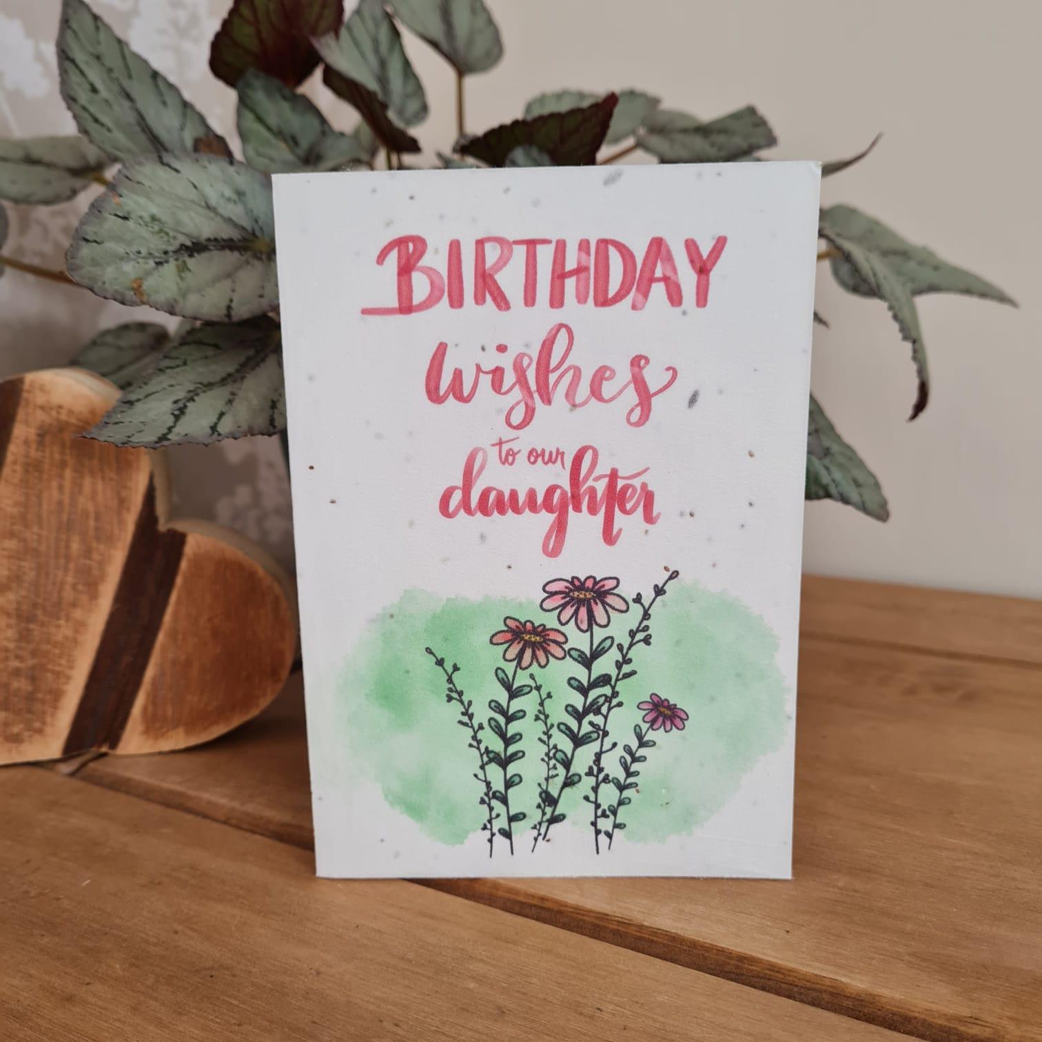 Plantable Wildflower Happy Birthday Daughter Seed Card