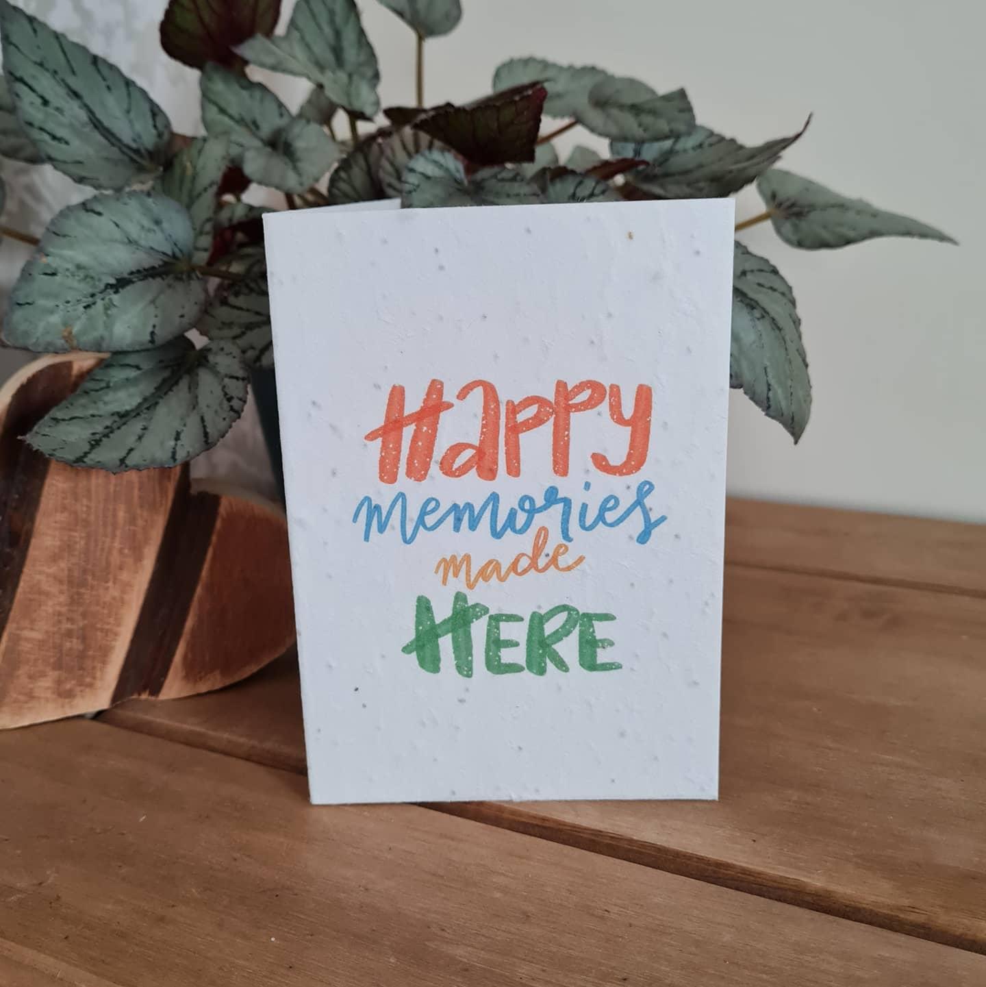 Plantable Wildflower Happy Memories Seed Card