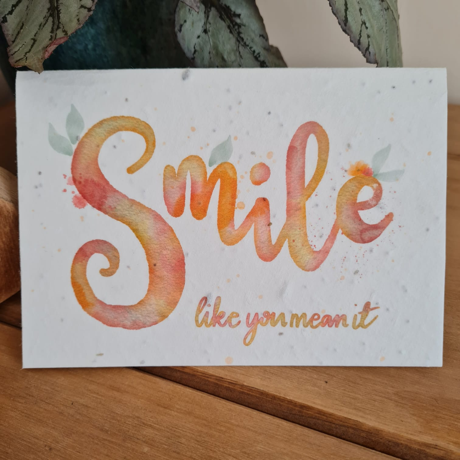Plantable Wildflower Smile Like You Mean It Seed Card