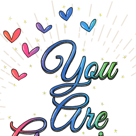 Positive Artwork Poster Print With Positive Quote – You Are Amazing Kind Shop 2