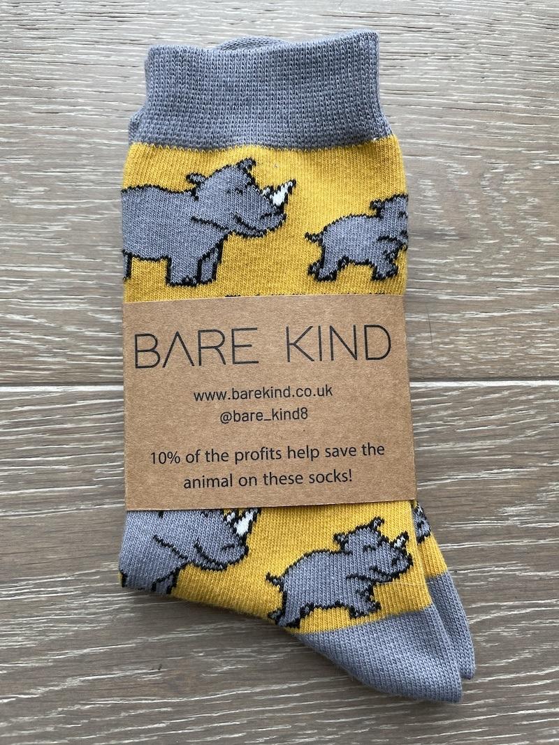 'Save the Rhinos' Bamboo Socks Kind Shop 3