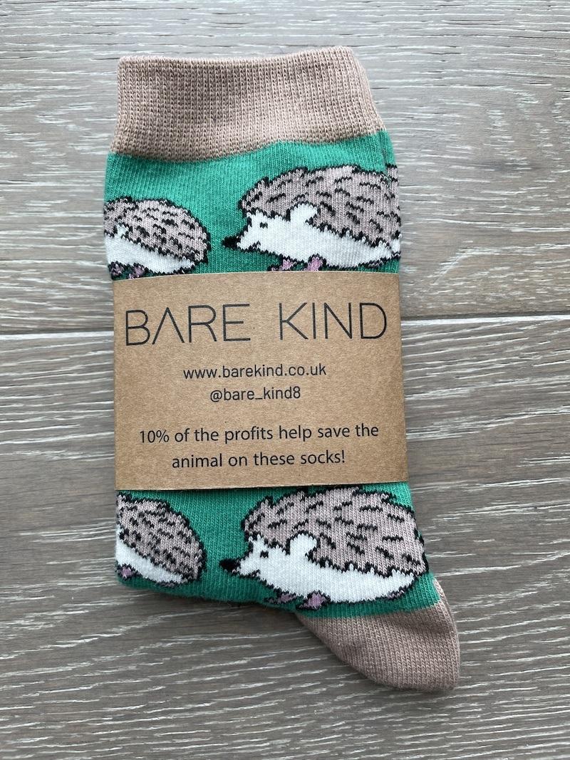 'Save the Hedgehogs' Bamboo Socks Kind Shop 3