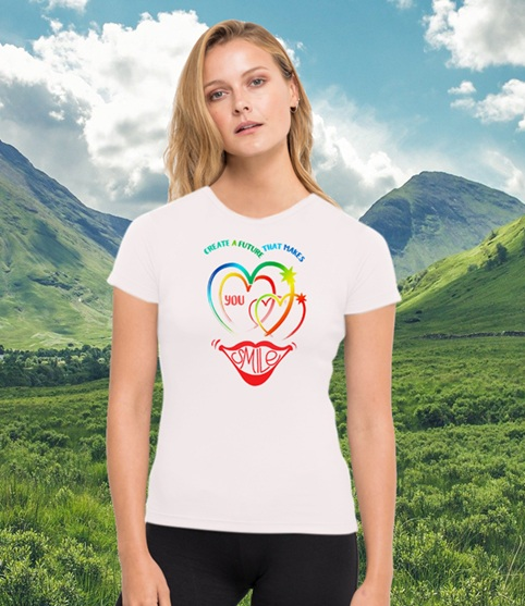 Create a future that makes you smile. Environmentally friendly gym running top made from recycled plastic bottles. Kind Shop