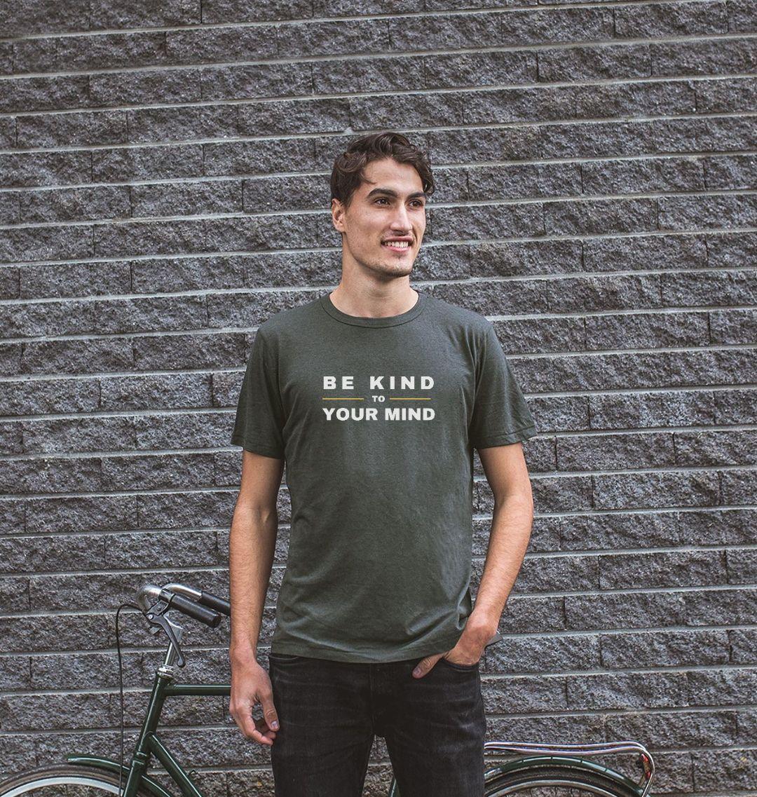 BE KIND TO YOUR MIND Mens Mental Health T-shirt Top – Organic Cotton, Vegan Kind Shop 3