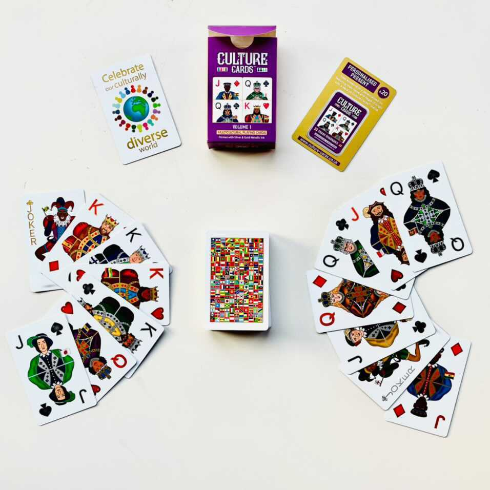 black skin colour cards - culture playing cards