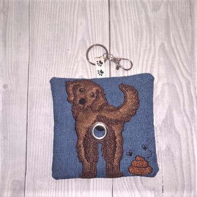 Labrador Retriever Eco Plastic Free Dog Poo Bag Holder – chocolate Kind Shop