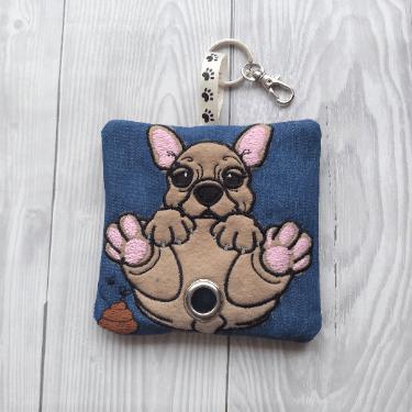 French Bulldog Eco Plastic Free Dog Poo Bag Holder – Fawn Kind Shop