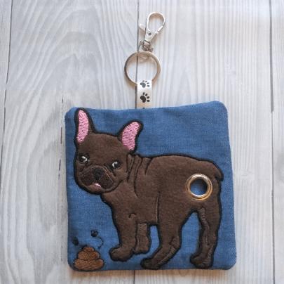 French Bulldog Eco Plastic Free Dog Poo Bag Holder – Chocolate Kind Shop