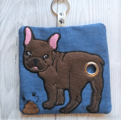 French Bulldog Eco Plastic Free Dog Poo Bag Holder – Chocolate Kind Shop 3