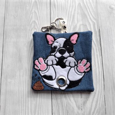 French Bulldog Eco Plastic Free Dog Poo Bag Holder – Black and White Kind Shop