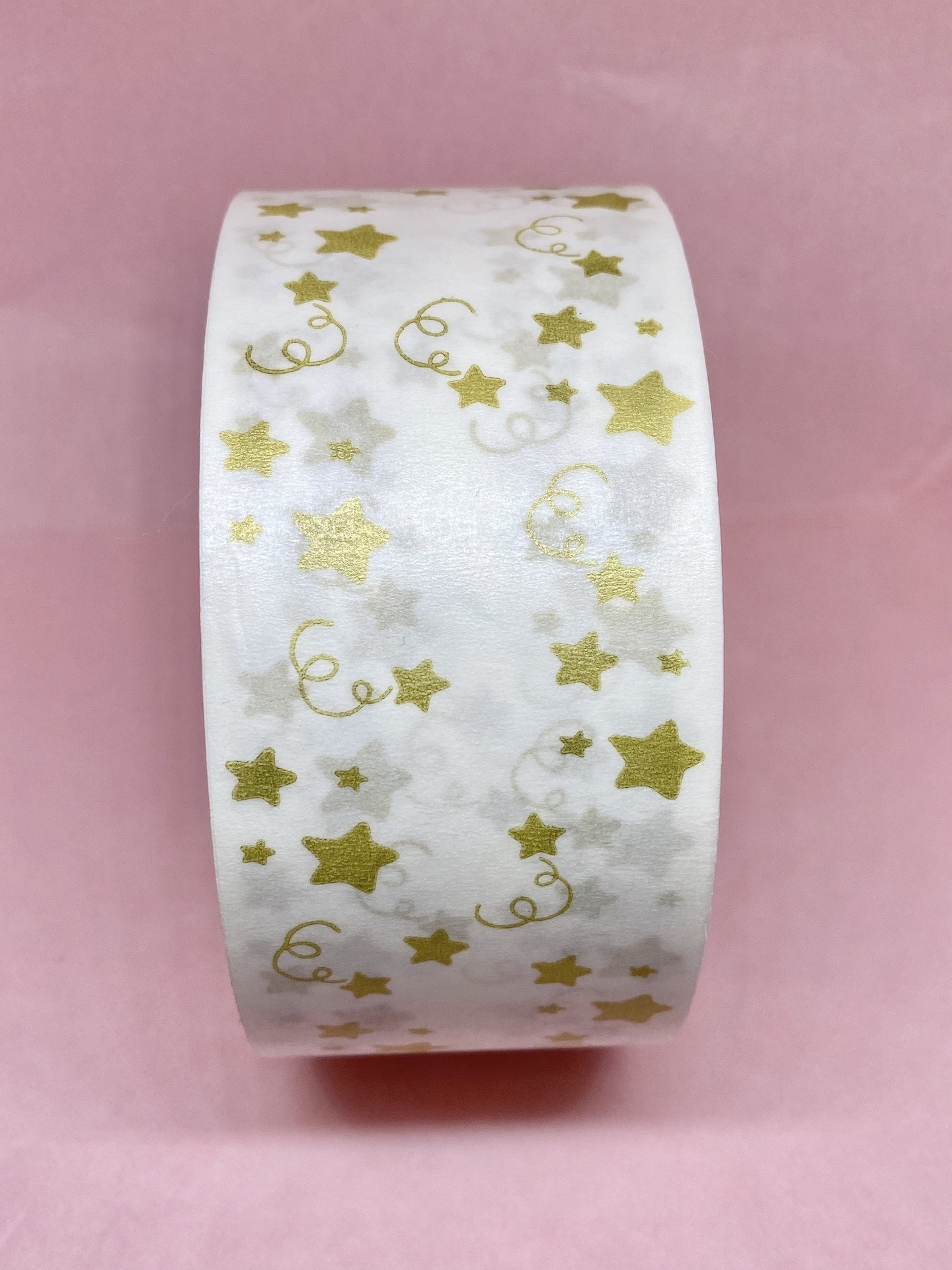 Metallic gold eco friendly paper tape, paper packing tape, kraft paper tape, recyclable paper tape, cute packing tape, printed packing tape Kind Shop 2