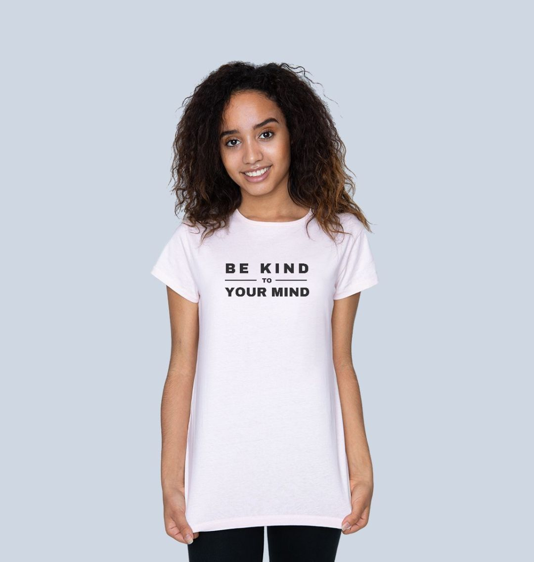 BE KIND TO YOUR MIND Womens Mental Health T-shirt Top pink